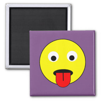 Tongue smiley magnet
