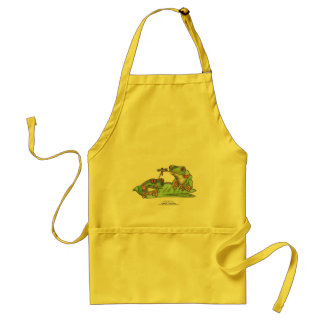 "Tongue Tied Frogs, "" Standard Apron"