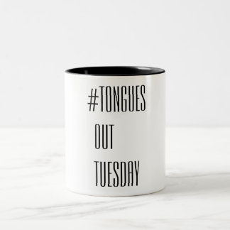 Tongues Out Tuesday Two-Tone Coffee Mug