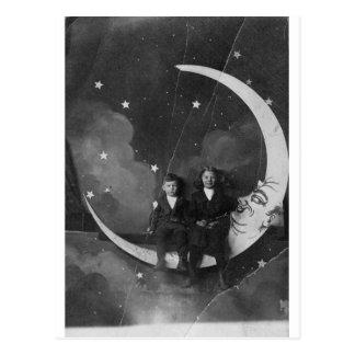 Tonight, Tonight we're over the moon! Postcard