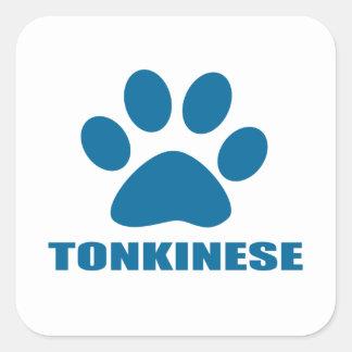 TONKINESE CAT DESIGNS SQUARE STICKER