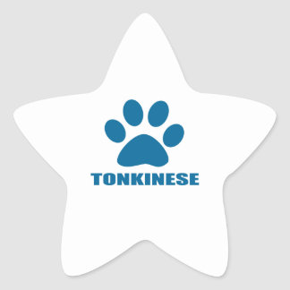 TONKINESE CAT DESIGNS STAR STICKER