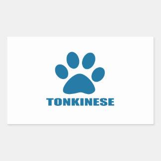 TONKINESE CAT DESIGNS STICKER