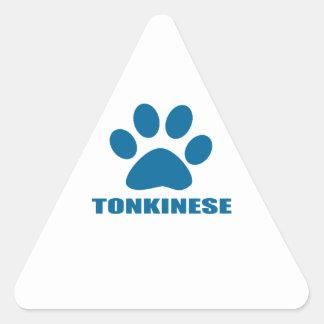 TONKINESE CAT DESIGNS TRIANGLE STICKER