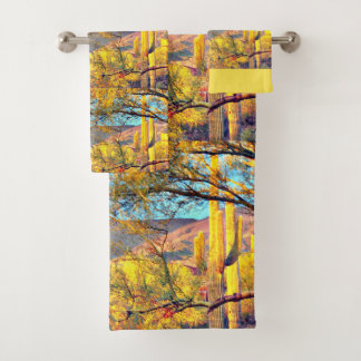 Tonto Mountain Landscape in Orion Bathroom Towels
