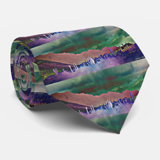 Tonto Mountains in Abstract Men's Tie