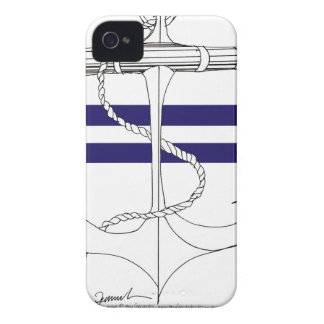 Tony Fernandes 2 blue stripe anchor Case-Mate iPhone 4 Case