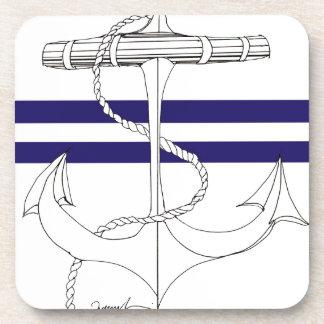 Tony Fernandes 2 blue stripe anchor Coaster