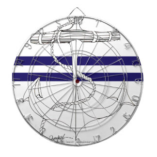 Tony Fernandes 2 blue stripe anchor Dartboard