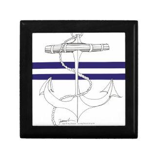 Tony Fernandes 2 blue stripe anchor Gift Box