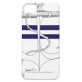 Tony Fernandes 2 blue stripe anchor iPhone 5 Cases