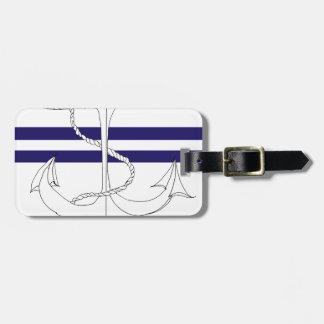 Tony Fernandes 2 blue stripe anchor Luggage Tag