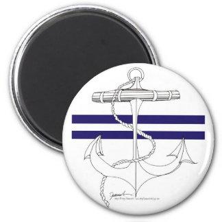 Tony Fernandes 2 blue stripe anchor Magnet