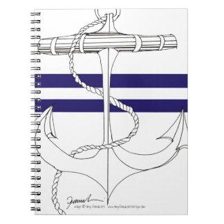 Tony Fernandes 2 blue stripe anchor Notebooks