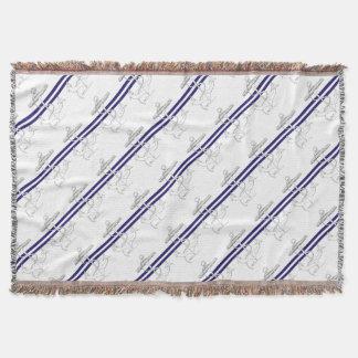 Tony Fernandes 2 blue stripe anchor Throw Blanket