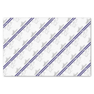 Tony Fernandes 2 blue stripe anchor Tissue Paper