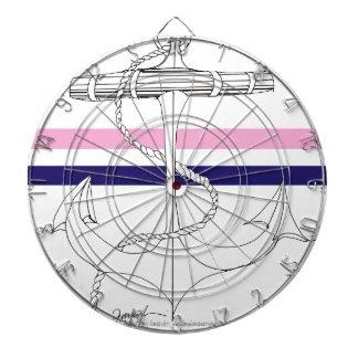 Tony Fernandes 2 mix stripe anchor Dartboard