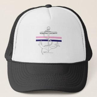 Tony Fernandes 2 mix stripe anchor Trucker Hat
