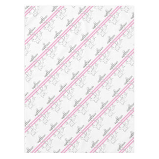Tony Fernandes 2 pink stripe anchor Tablecloth