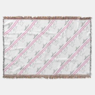 Tony Fernandes 2 pink stripe anchor Throw Blanket
