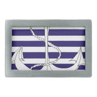 Tony Fernandes 4 blue stripe anchor Belt Buckles