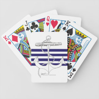 Tony Fernandes 4 blue stripe anchor Bicycle Playing Cards