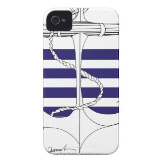 Tony Fernandes 4 blue stripe anchor Case-Mate iPhone 4 Case