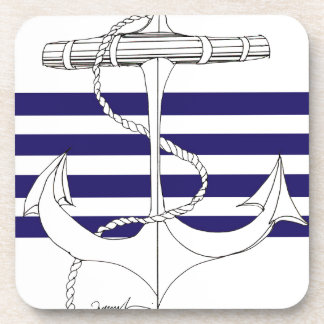 Tony Fernandes 4 blue stripe anchor Coaster