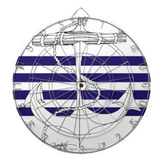 Tony Fernandes 4 blue stripe anchor Dartboard