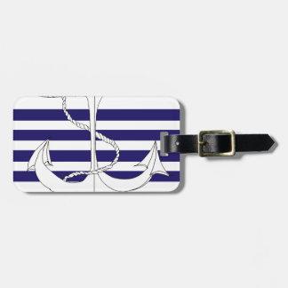 Tony Fernandes 4 blue stripe anchor Luggage Tag