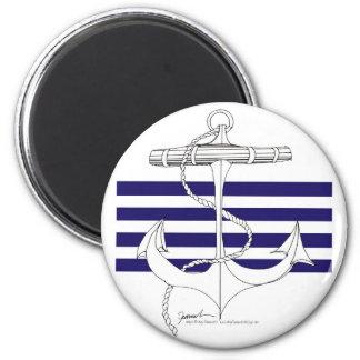 Tony Fernandes 4 blue stripe anchor Magnet
