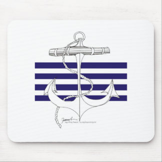 Tony Fernandes 4 blue stripe anchor Mouse Pad