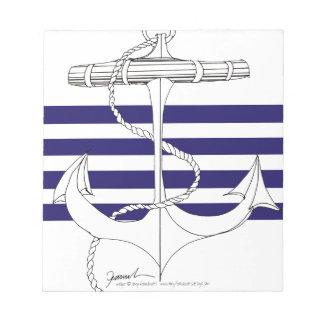 Tony Fernandes 4 blue stripe anchor Notepad