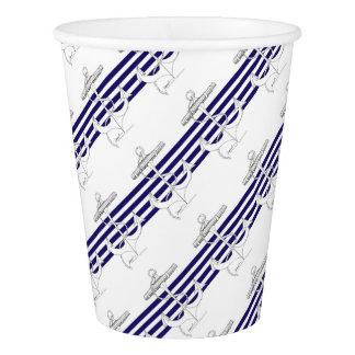 Tony Fernandes 4 blue stripe anchor Paper Cup