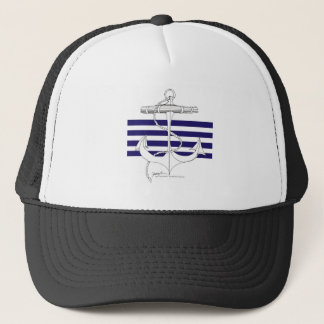 Tony Fernandes 4 blue stripe anchor Trucker Hat