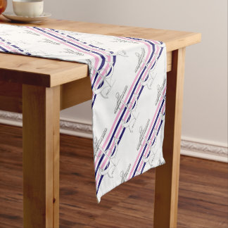Tony Fernandes 4 mix stripe anchor Short Table Runner