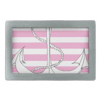 Tony Fernandes 4 pink stripe anchor Belt Buckle