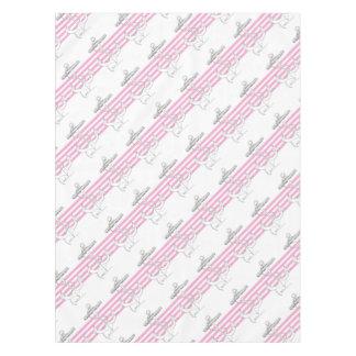 Tony Fernandes 4 pink stripe anchor Tablecloth