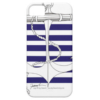 Tony Fernandes 6 blue stripe anchor Case For The iPhone 5