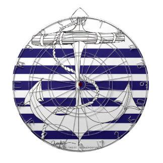 Tony Fernandes 6 blue stripe anchor Dartboard