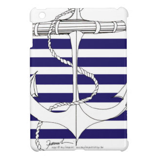 Tony Fernandes 6 blue stripe anchor iPad Mini Case
