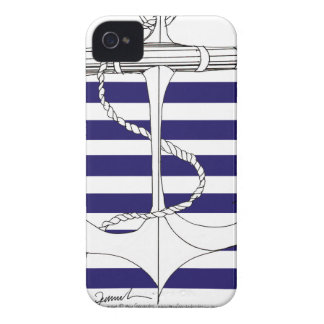 Tony Fernandes 6 blue stripe anchor iPhone 4 Cover