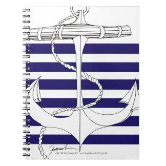 Tony Fernandes 6 blue stripe anchor Notebook
