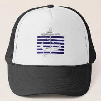 Tony Fernandes 6 blue stripe anchor Trucker Hat