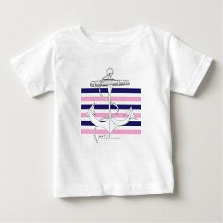 Tony Fernandes 6 mix stripe anchor Baby T-Shirt