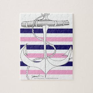 Tony Fernandes 6 mix stripe anchor Jigsaw Puzzle