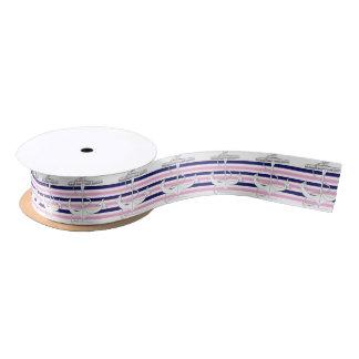 Tony Fernandes 6 mix stripe anchor Satin Ribbon