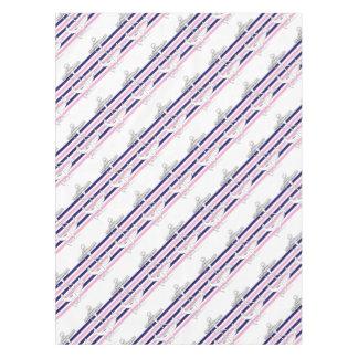 Tony Fernandes 6 mix stripe anchor Tablecloth