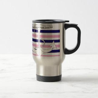 Tony Fernandes 6 mix stripe anchor Travel Mug