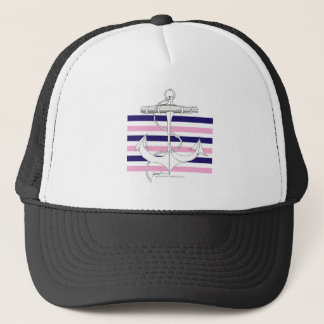 Tony Fernandes 6 mix stripe anchor Trucker Hat
